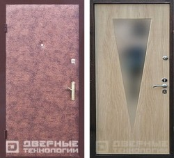 надежная входная дверь с зеркалом